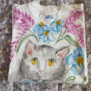 Stunning! Floral Cat Tee